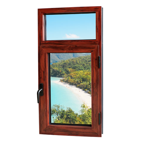 Wood aluminum composite casement windows window aluminium double glass on China WDMA