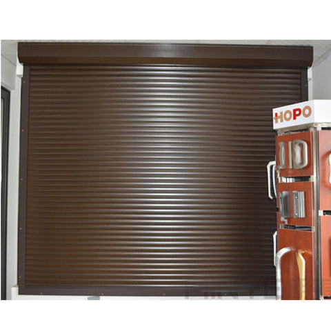 Wood color new design rolling shutter windows and doors for garage on China WDMA