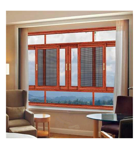 Wood grain sliding fold aluminium windows horizontal spain faceted folding sliding window on China WDMA
