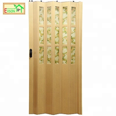 Wooden PVC Folding Door White Internal Bi Fold Doors With Glass on China WDMA