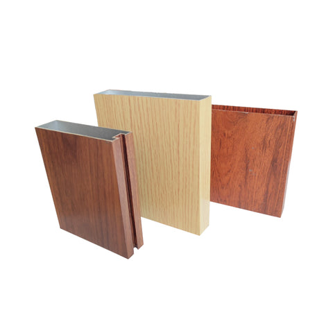 Wow!! aluminium door frame/ aluminum sliding window price/ wood grain color aluminium casement door on China WDMA