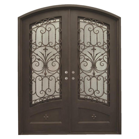 Wrought iron and glass sliding door frame design on China WDMA
