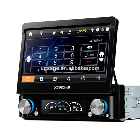 XTRONS 1 din car music player, 7 inch lcd monitor with av input, single din dvd player with gps on China WDMA