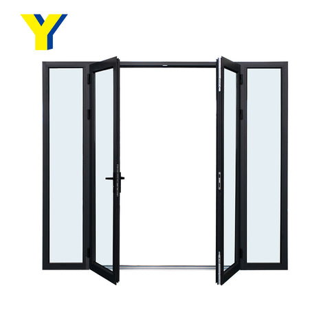 YY Australian standard Aluminum door exterior and storm security door with Laminated glass french door on China WDMA