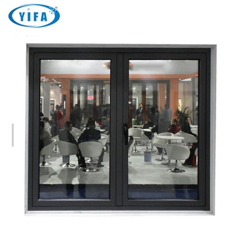 YY Home arch window french casement glass windows with aluminum frame on China WDMA
