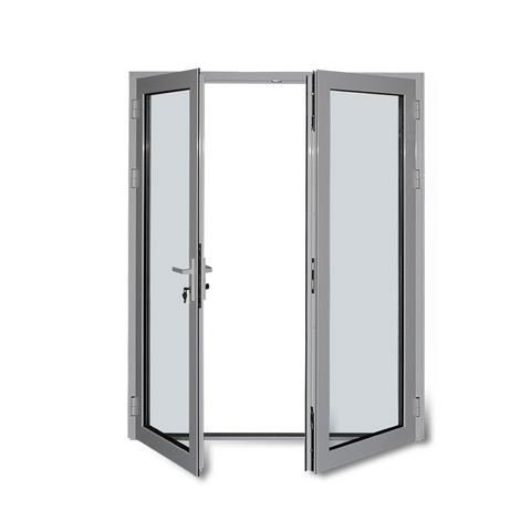 YY aluminium double glaze lowe doors security hinged door used exterior french doors for building on China WDMA