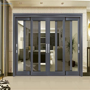 YY windows and doors AS2047 sliding folding doors plastic different types of temporary doors on China WDMA