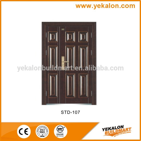 Yekalon STD-110 double door security steel door on China WDMA