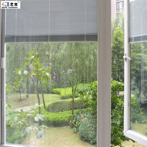 Yilian Home fashions made to measure magnetic control integral window blinds built in glass window on China WDMA