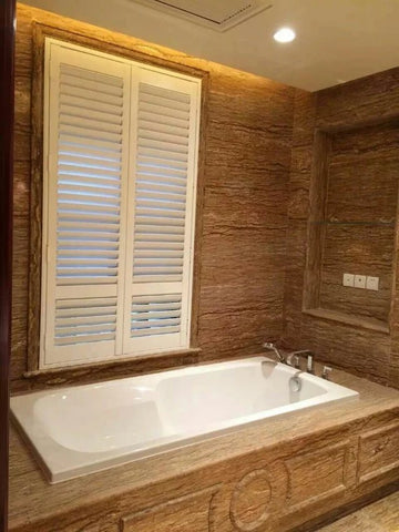 advanced technology bathroom blinds window or PVC plantation window shutters low costs from China on China WDMA