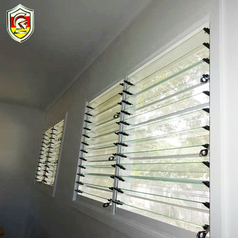 aluminium frosted glass shutter windows by hand for bathroom on China WDMA