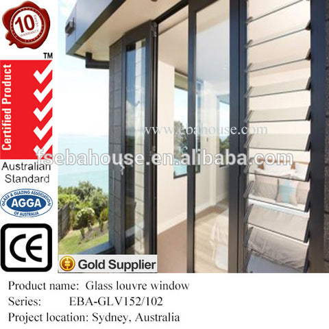 aluminium glass louvre windows AS1288 AS2208 AS2047 Breezway Altair louvre vertical jalousie window on China WDMA