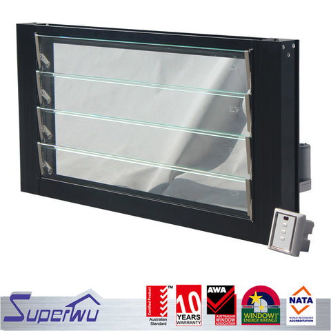 aluminium jalousie thermal break fire rated louvre windows on China WDMA