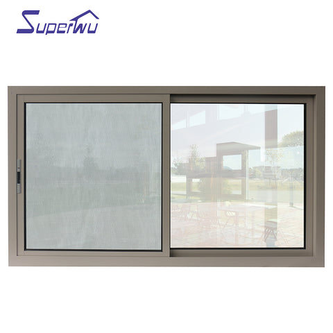 aluminum frame 3 panel french window with double glass on China WDMA
