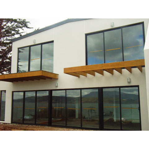 aluminum frame up down brown color sliding glass reception window philippines price and design A2047 on China WDMA