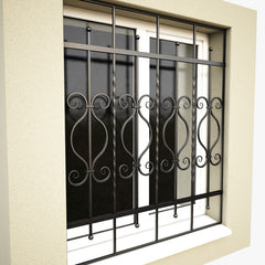 aluminum sliding window grill design simple modern iron window grill design on China WDMA