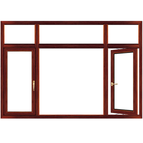 aluminum windows doors thermal break Tempered Glasses American crank timber aluminium casement window on China WDMA
