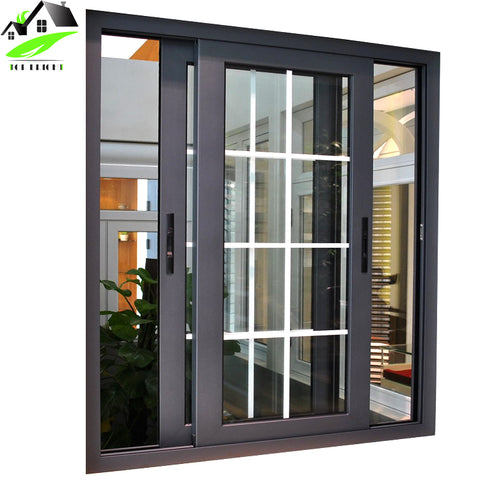 american grill Design Double Glazing Aluminum Glass Sliding Windows with Reasonable Price on China WDMA