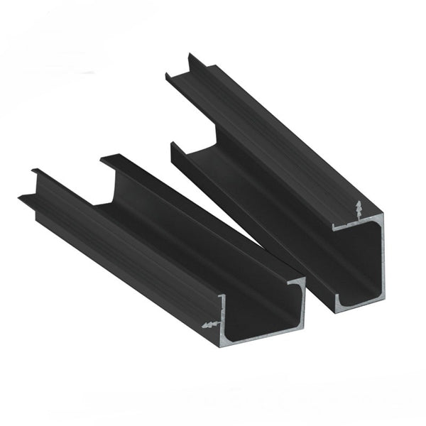anodized / powder coated black aluminium alloy extrusion louvre panel table saw profile for cheap fence price on China WDMA