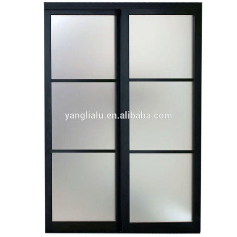 anodized windows doors aluminum doors window stempered glass for sale on China WDMA
