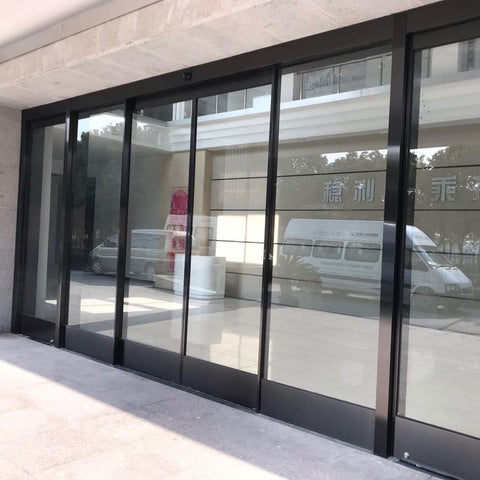 automatic type electric sliding glass door for mall on China WDMA