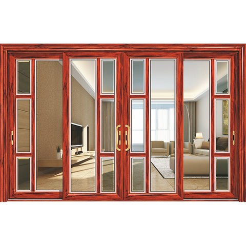 balcony aluminium sliding panel glass wall slide doors aluminum glass french double sliding entry doors on China WDMA