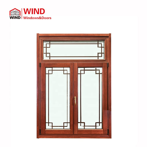 balcony glass curtain window standard size louvers roof sliding windows with grill on China WDMA