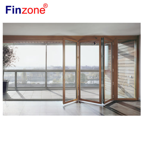 balcony glazing system folding door balcony window Movable glass partition folding glazed wall on China WDMA