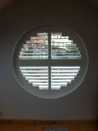 beautiful decoration shutter for circle windows /plantation shutters on China WDMA