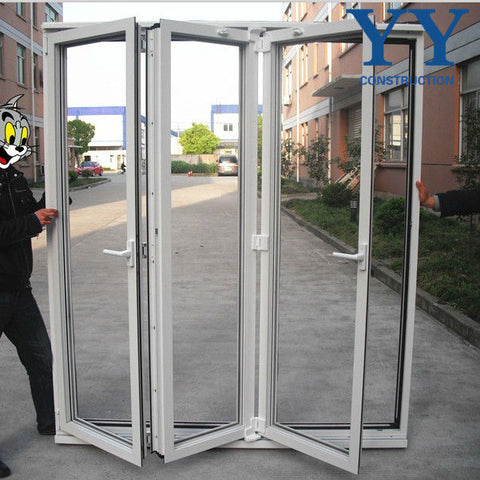 bifold patio french doors /48 inches exterior doors / glass panel garage door on China WDMA on China WDMA