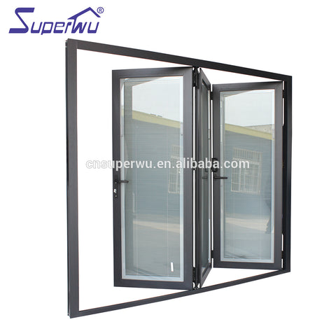 canada standard dade test Economic exterior glass folding aluminum door for sale on China WDMA
