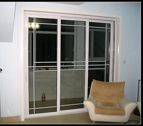 cheap apartment 3 track rails aluminium manual french comfort room sliding door system on China WDMA