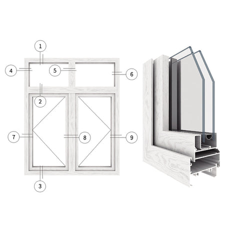 cheap price french aluminum alloy double glass swing casement opening window for home on China WDMA