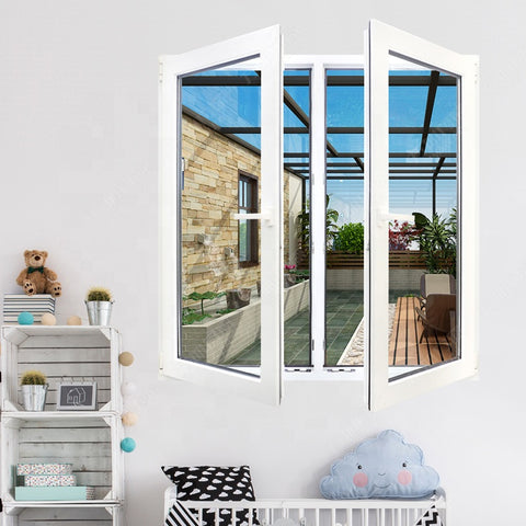 cheap upvc/ pvc/ plastic glass casement/ swing window price philippines on China WDMA