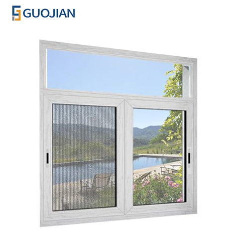 cheap upvc/ pvc/ plastic glass sliding window price philippines on China WDMA