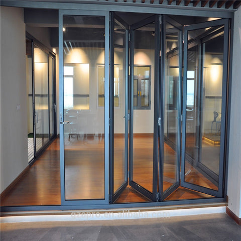 china factory new bi fold sreen door, folding patio doors glass walls alibaba on China WDMA