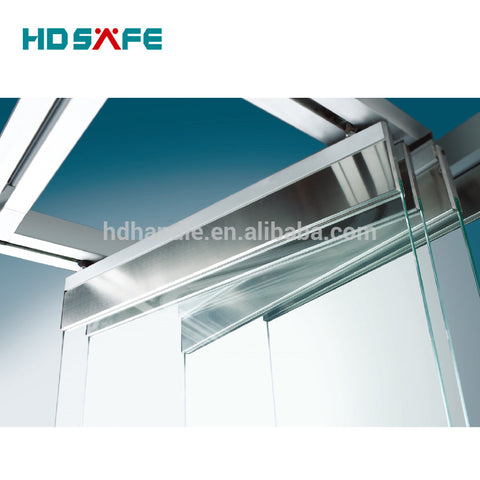 china manufacturer frameless aluminum glass partition folding door system on China WDMA