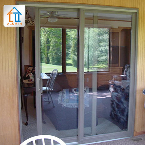 commercial exterior balcony aluminum patio large sliding glass doors sound proof glass aluminium profile sliding door system on China WDMA