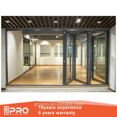 commercial standard anodized folding aluminum window sizes customised decorative folding door with blinds inside