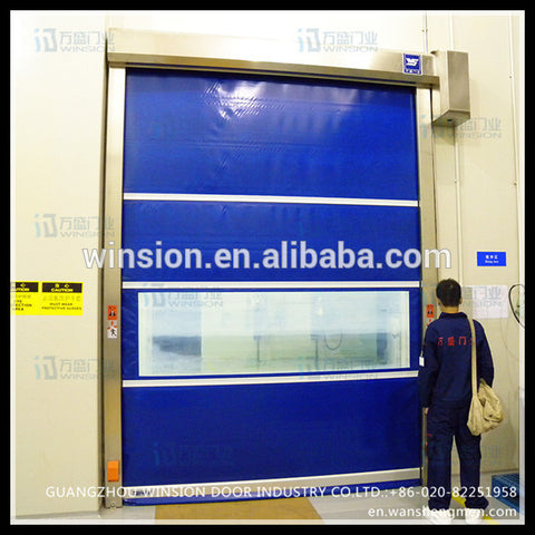 curtain design metal roll up window hgih speed industrial automatic door on China WDMA