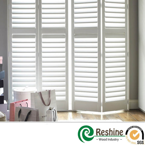 custom philippine made wood louver vertical shutter interior white shutter doors on China WDMA