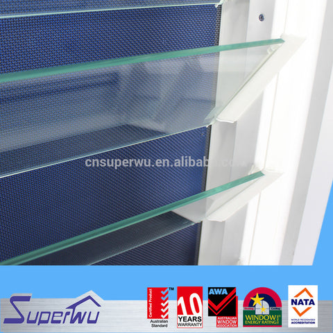 customized aluminum frame glass movable louvre window on China WDMA