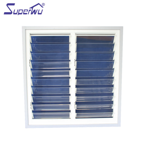 customized luxury design aluminum frame glass movable louvres jalousie window on China WDMA