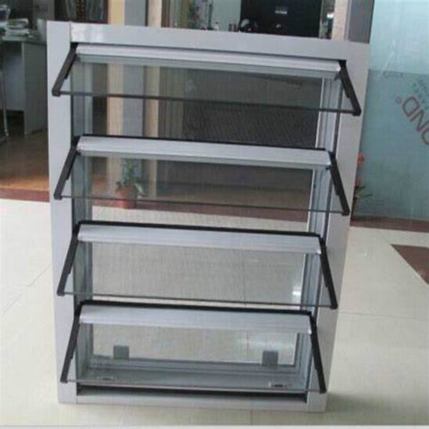 designed 38.78x4 glass replacement aluminium louver casement windows civic quarter window louvers on China WDMA