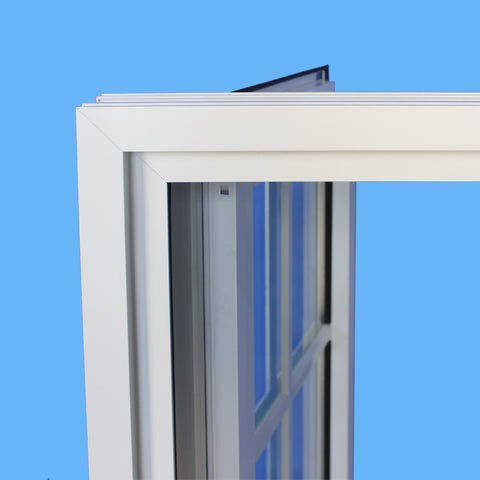 double casement style aluminum frame glass windows on China WDMA