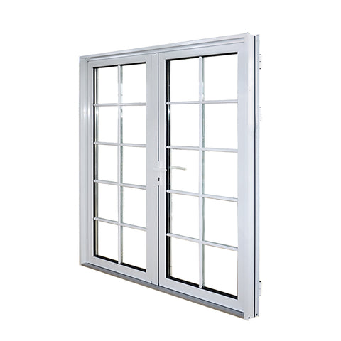 double glass exterior aluminium out swing patio doors commercial french doors on China WDMA