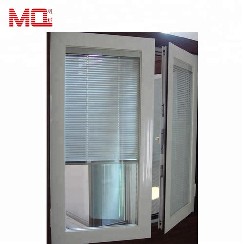 double glazed aluminium frame casement window with mosquito net / fly screen MQ-74 on China WDMA