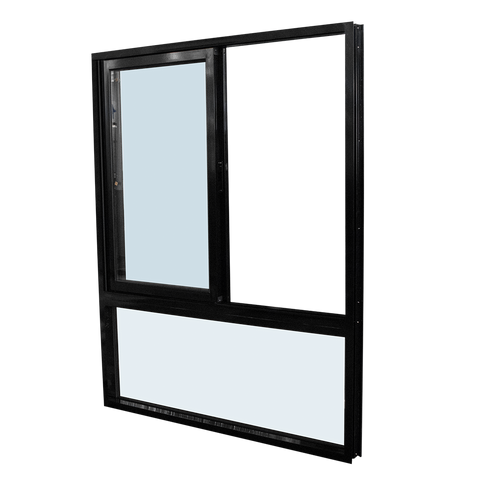 double glazed windows / awning window for bathroom / aluminium windows with thermal break on China WDMA