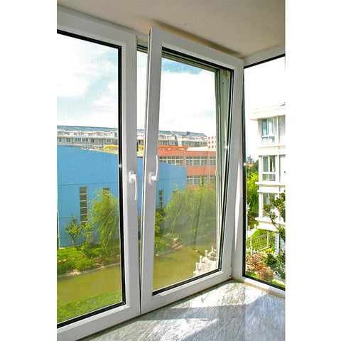 double hinged windows/vertical opening window/double opening window on China WDMA