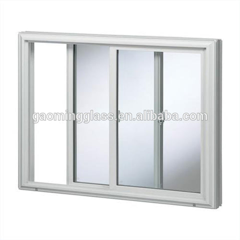 double/triple sliding bay window with pane design vinyl windows price, upvc window 2 sash panel on China WDMA